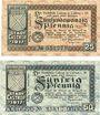 Banknoten Castrop. Stadt. Billets. 25 pf, 50 pf 1.5.1917