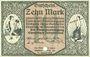 Banknoten Chemnitz. Finanzvereinigung Chemnitzer Industrieller. Billet. 10 mark 18.11.1918
