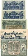 Banknoten Chemnitz. Finanzvereinigung Chemnitzer Industrieller.Billets. 5 mk(2ex), 20, 50 mk -10 mk