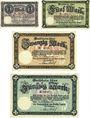 Banknoten Cochen. Landkreis. Billets. 1, 5, 20, 50 mark 19.11.1918