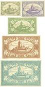 Banknoten Cochen. Landkreis. Billets. 50 pf, 1, 5, 20, 50 mark 19.11.1918