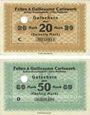 Banknoten Cologne-Mülheim, Felten & Guilleaume Carlswerk. Billets. 20, 50 mark n.d. - 1.2.1919