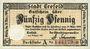 Banknoten Crefeld. Stadt. Billet. 50 pf 19.4.1917, série A