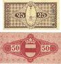 Banknoten Crefeld. Stadt. Billets. 50 pf 25.9.1919 ; 25 pf 6.11.1919