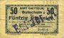 Banknoten Datteln. Amt. Billet. 50 pfennig 15.1.1918