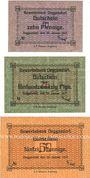 Banknoten Deggendorf. Gewerbebank Deggendorf. Billets. 10, 25, 50 pf 30.1.1917