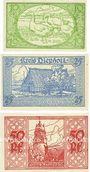 Banknoten Diepholz. Kreis. Billets. 10 pf, 25 pf, 50 pf 1.9.1920
