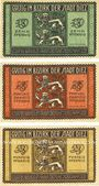 Banknoten Diez. Stadt. Billets. 10 pf, 25 pf, 50 pf juin 1917 - 31.12.1919