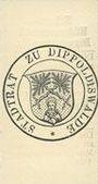 Banknoten Dippoldiswalde. Kriegs-Hilfsausschuß. Billet. 50 pf (26.10.1916)