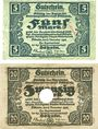 Banknoten Döbeln. Amtshauptmannschaft. Billets. 5, 20 mark 8.11.1918