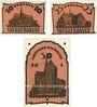 Banknoten Doberan. Bad Stadt. Billets. 10 pf, 25 pf, 50 pf (1922), Reutergeld