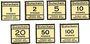 Banknoten Düren. Konsum- und Sparverein. Billets. 1, 2, 5, 10, 20, 50, 100 pf (1916)