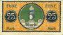Banknoten Düren. Stadt. Billet. 5 mark imprimé sur 25 pf du 1.6.1917