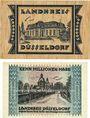 Banknoten Düsseldorf. Landkreis. Billets. 1 million mk 7.8.1923, 10 millions mk 29.8.1923