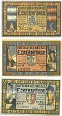 Banknoten Eckernförde. Kreis. Billets. 50 pfennig (2ex), 1 mark 1921