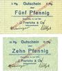 Banknoten Einswarden. Frerichswerft. Billets. 5 pf, 10 pf juin 1921