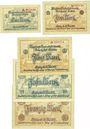 Banknoten Eisleben. Mansfeld a. G.. Billets. 1, 2, 5, 10, 20 mark n. d. - 31.5.1919