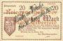 Banknoten Elberfeld. Stadt. Billet. 20 mark 25.10.1918, impression: Wieder in Verkehr bis 30. November 1922