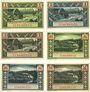 Banknoten Elberfeld. Stadt. Billets. 1 mark (3ex), 2 mark (3ex) 1.10.1920