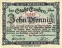 Banknoten Emden. Stadt. Billet. 10 pf 1918