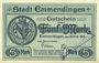 Banknoten Emmendingen. Stadt. Billet. 5 mark 30.10.1918, original