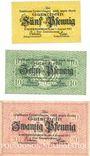Banknoten Emmendingen. Stadt. Billets. 5 pf, 10 pf, 20 pf 1.8.1917