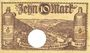 Banknoten Ems, Bad. Stadt. Billet. 10 mark série (Reihe) A 18.11.1918, annulation par perforation