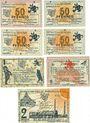 Banknoten Ennigerloh. Gemeinde. Billets. 50 pf (4ex), 1 mark (2ex), 2 mark 1.6.1921