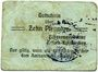 Banknoten Erbach-Reiskirchen. Gemeinde. Billet. 10 pfennig (1917), au dos, numérotation manuscrite en noir...