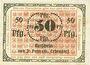 Banknoten Erbendorf. Ponnath J.. Billet. 50 pfennig