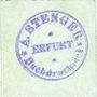 Banknoten Erfurt. A. Stenger. Buchdruckerei. Billet. 2 pf (1920)