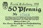 Banknoten Erlelenz. Kreis. Billet. 50 pf 19.10.1918