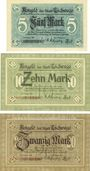 Banknoten Eschwege. Stadt. Billets. 5 mark, 10 mark, 20 mark 1918