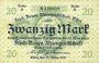 Banknoten Essen. Fried. Krupp Aktiengesellschaft. Billet. 20 mark 29.3.1920