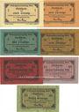 Banknoten Ettal. Klostergutsverwaltung. Billets. 1, 2, 5, 10, 25 (2ex), 50 pf n. d. - 31.12.1917
