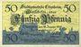Banknoten Ettenheim. Stadt. Billet. 50 pfennig 10.1.1919, Original !