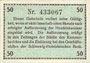 Banknoten Flensburg. Handelskammer. Billet. 50 pf (1917)