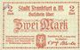 Banknoten Frankfurt am Main. Billet. 2 mark 1.2.1919