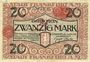 Banknoten Frankfurt am Main. Billet. 20 mark 15.10.1918, cachet rouge de prolongation...