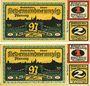 Banknoten Freiberg. Stadt. Billet. 1 mark série (Reihe) A - B 1921