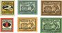 Banknoten Freiberg, Stadt, billets, 2 pf n. d.-30.6.1920, 5, 10 pf n.d.- 31.12.1920, 1,5,10 pf n.d. -31.9.1921
