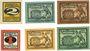 Banknoten Freiberg. Stadt. Billets. 2 pf n. d.-30.6.1920, 5, 10 pf n.d.- 31.12.1920, 1,5,10 pf n.d. -31.9.1921