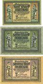 Banknoten Freiberg. Stadt. Billets. 5 mark série C, 10 mark série C, 20 mark série A 15.11.1918