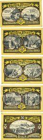 Banknoten Freiberg. Stadt. Série de 5 billets. 50 pf  1921