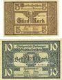 Banknoten Furtwangen. Stadt. Billets. 5 mk, 10 mk nd - 1.12.1918, originaux, annulation par cachet ENTWERTET