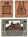 Banknoten Gadebusch. Stadt. Billets. 10 pf, 25 pf, 50 pf (1922), Reutergeld