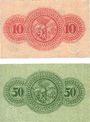 Banknoten Gera. Stadt. Billets. 10 pf, 50 pf 1920