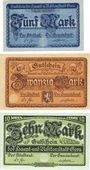 Banknoten Gera. Stadt. Billets. 5 mark, 10 mark, 20 mark n.d. - 1.2.1919