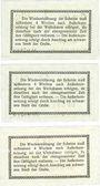 Banknoten Golpa. Elektrowerke Aktiengesellschaft Grube Golpa. Billets. 1 pf, 2 pf, 10 pk