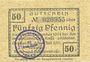 Banknoten Groß-Reken. Rekener Spar- und Darlehnkase. Billet. 50 pf 1.7.1921